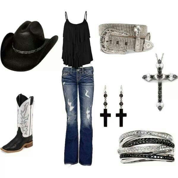A black stetson is a must!