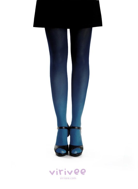 Ombre tights by virivee on Etsy