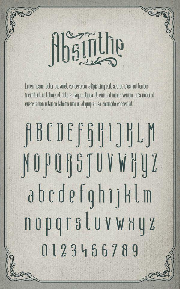 Absinthe - Free Font ~ De volta ao retrô