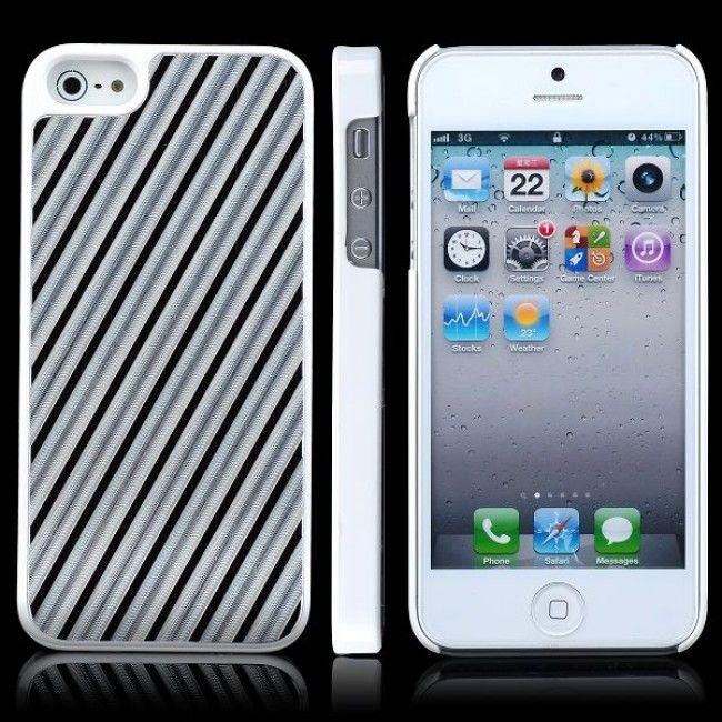 Diagonal Milled Alumiininen Tausta (Musta) iPhone 5 Suojakuori - http://lux-case.fi/diagonal-milled-alumiininen-tausta-musta-iphone-5-suojakuori.html