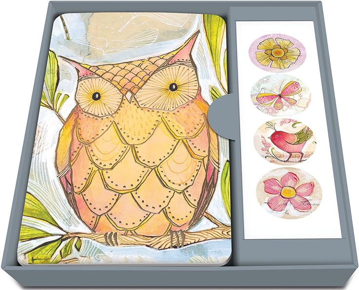 AmazonSmile: Studio Oh! Notecard Set with Stickers, Bright-Eyed Friends, Box of 12: Home & Kitchen