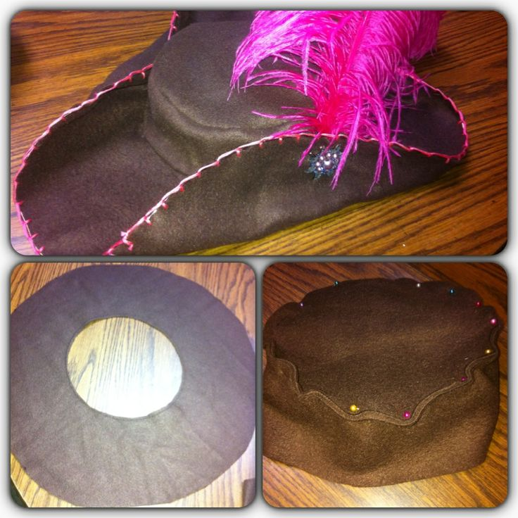 DIY Girly Pirate hat | Halloween | Pinterest | Pirate hats