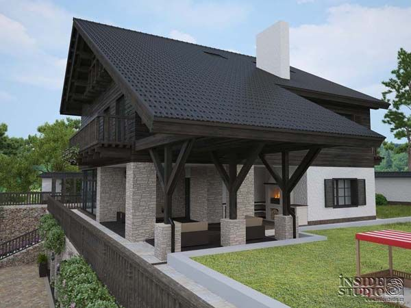 Rodinný dům. Family House. Загородный дом 1150 m2. Architect: IRINA  RICHTER. INSIDE-STUDIO Prague