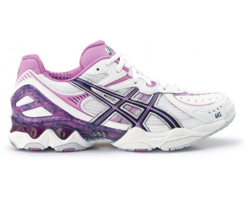 ASICS Netburner Super 2 Ladies Netball Shoes, White/Purple, US8 | Kencleng Store