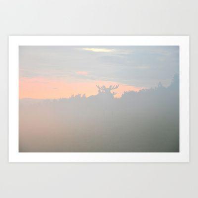 Moose Art Print by Lone  - $18.00