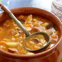 Cocido - Chickpea & Chorizo stew.