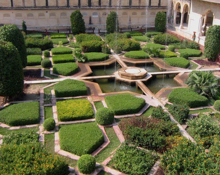 ** Amber Palace Gardens, India.