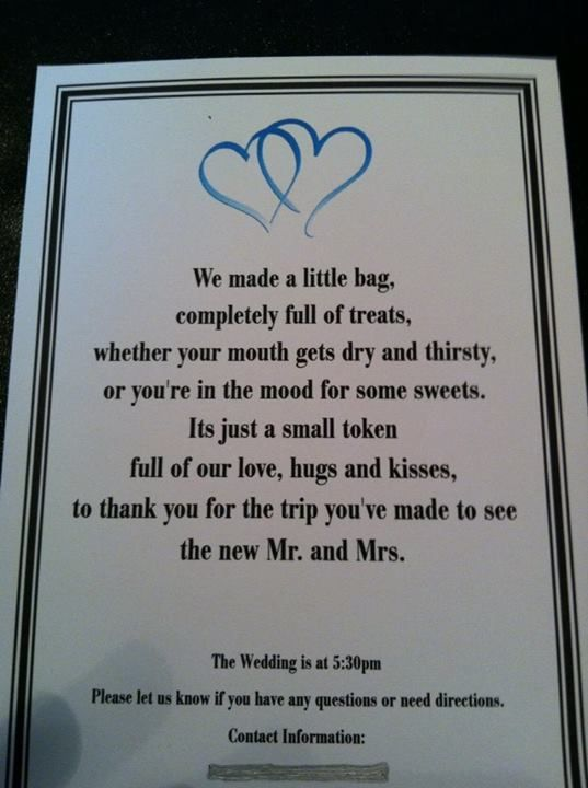 wedding gift bags for hotel guests - Google Search