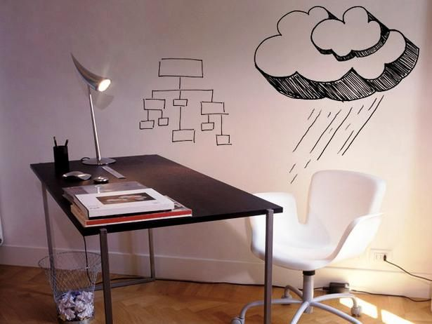 Turn any wall into a dry-erase whiteboard with a coat of CRE-8 water-borne paint  www.diynetwork.co...