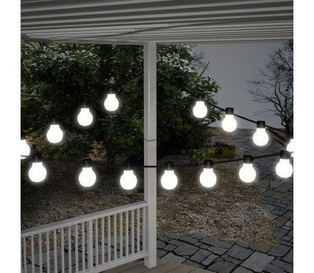 Witte lichtbollen voor de tuin