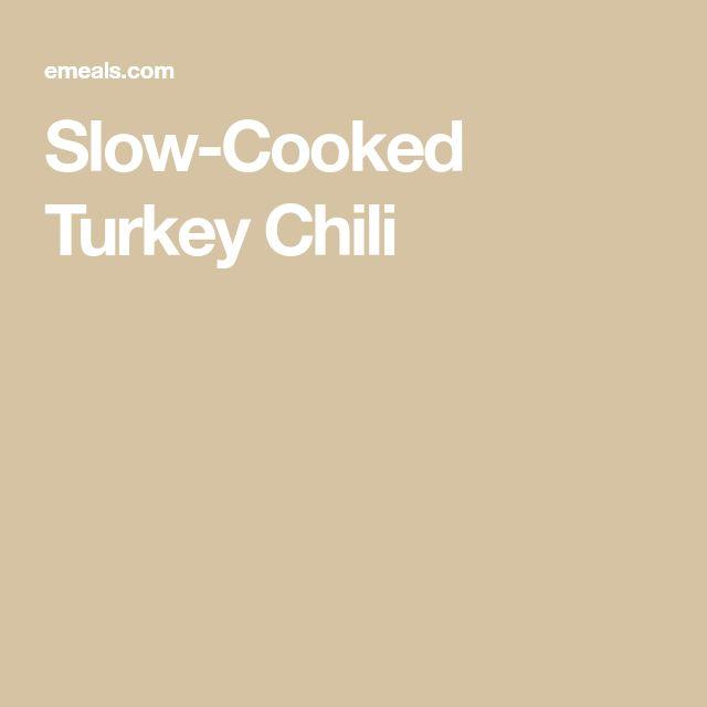 Slow-Cooked Turkey Chili