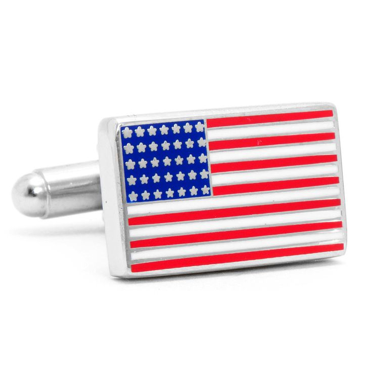 American Flag Cufflinks in Red White and Blue by CufflinksInc