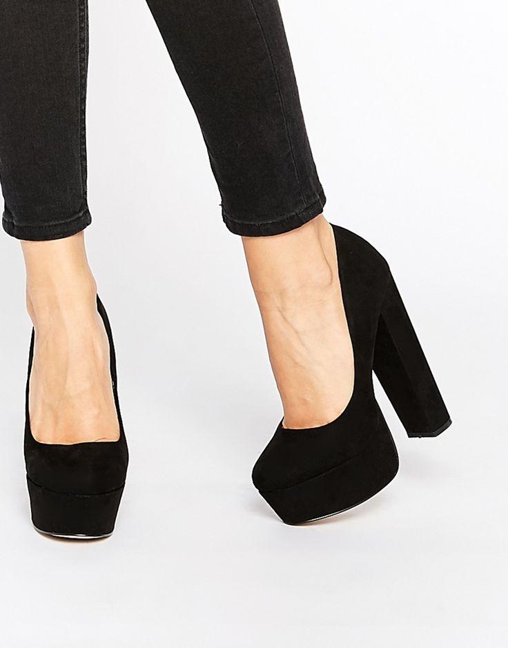 Carvela Ariel Black Platform Court Shoes