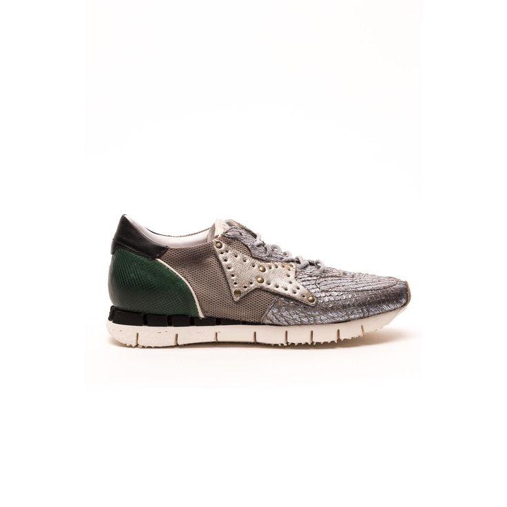 stijlvolle A.s. 98 sneaker art. 139125 Grigio/bianco/Smeraldo