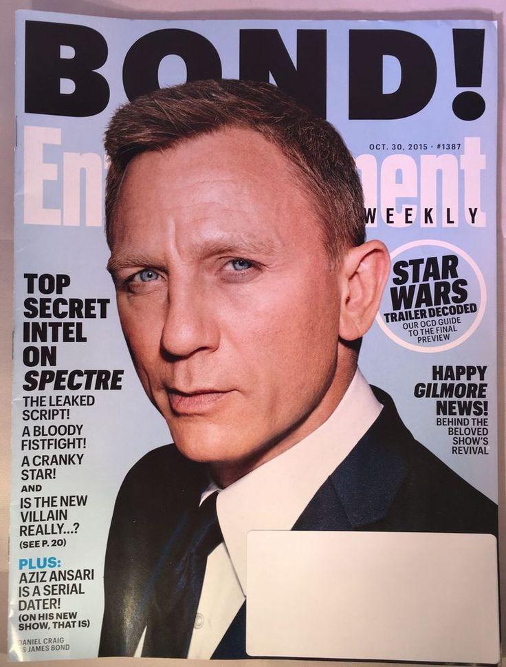 ENTERTAINMENT WEEKLY Magazine October 30 2015 BOND DANIEL CRAIG STAR WARS    eBay