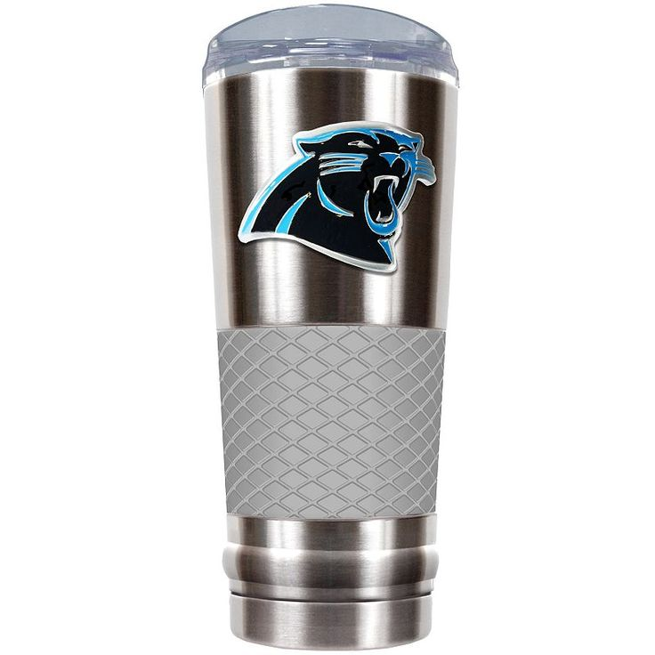 Carolina Panthers 24-Ounce Draft Stainless Steel Tumbler, Grey