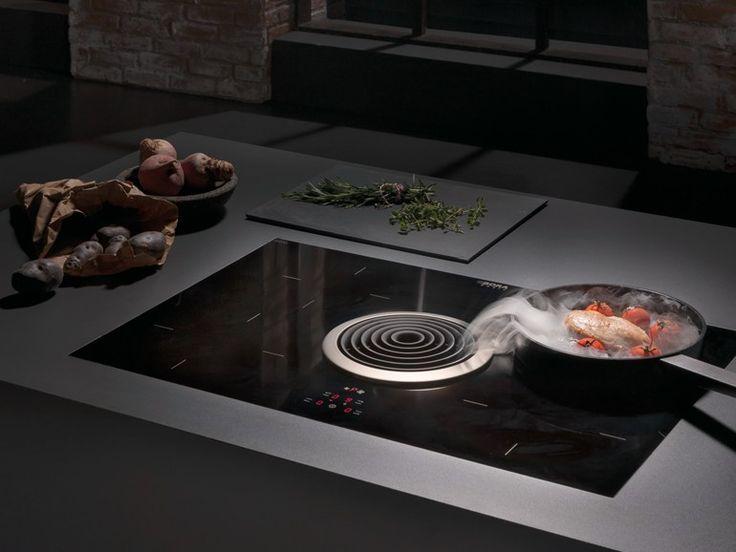 induktionskochfeld aus glaskeramik mit integriertem. Black Bedroom Furniture Sets. Home Design Ideas
