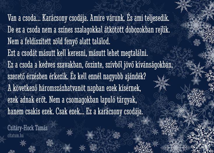 #idézetek #idézet #karácsony #karácsonyiidézetek Csitáry-Hock Tamás idézet karácsonyra