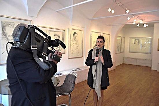 Visita dello Storico dell'Arte LILETTA FORNASARI oggi con MASSIMO BULLETTI & TG TELETRURIA! | DANIELLE VILLICANA D'ANNIBALE - Blog