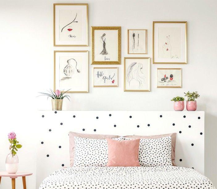 ¡Amamos esta tendencia en decoración! Los cuadros van a levantar la manera en que se ve tu hogar. Te decimos cómo lograrlo. To My Mother, Pendant Lighting, Gallery Wall, Room Decor, Frame, Bedroom, Ideas, Copper, Organized Linen Closets