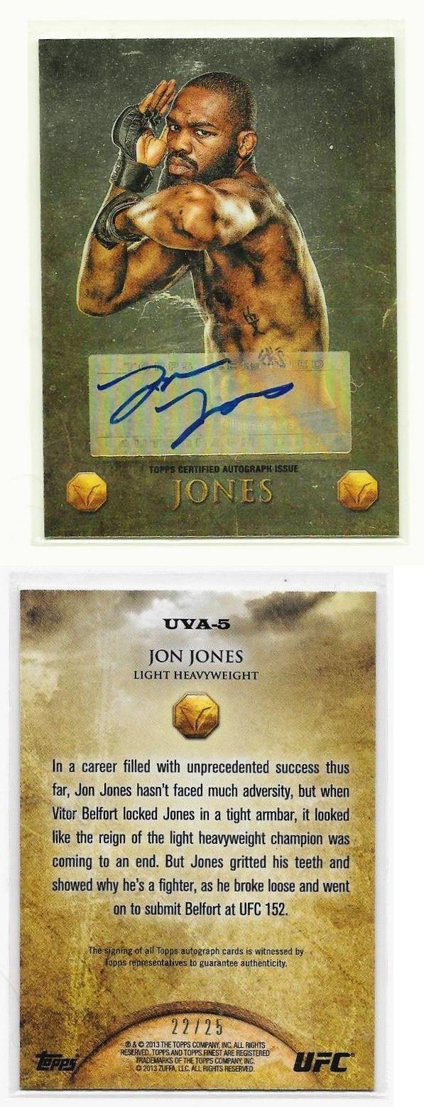 Mixed Martial Arts MMA Cards 170134: 2013 Topps Ufc Autograph - Jon Jones Auto # 22 25 Uva5 -> BUY IT NOW ONLY: $45 on eBay!