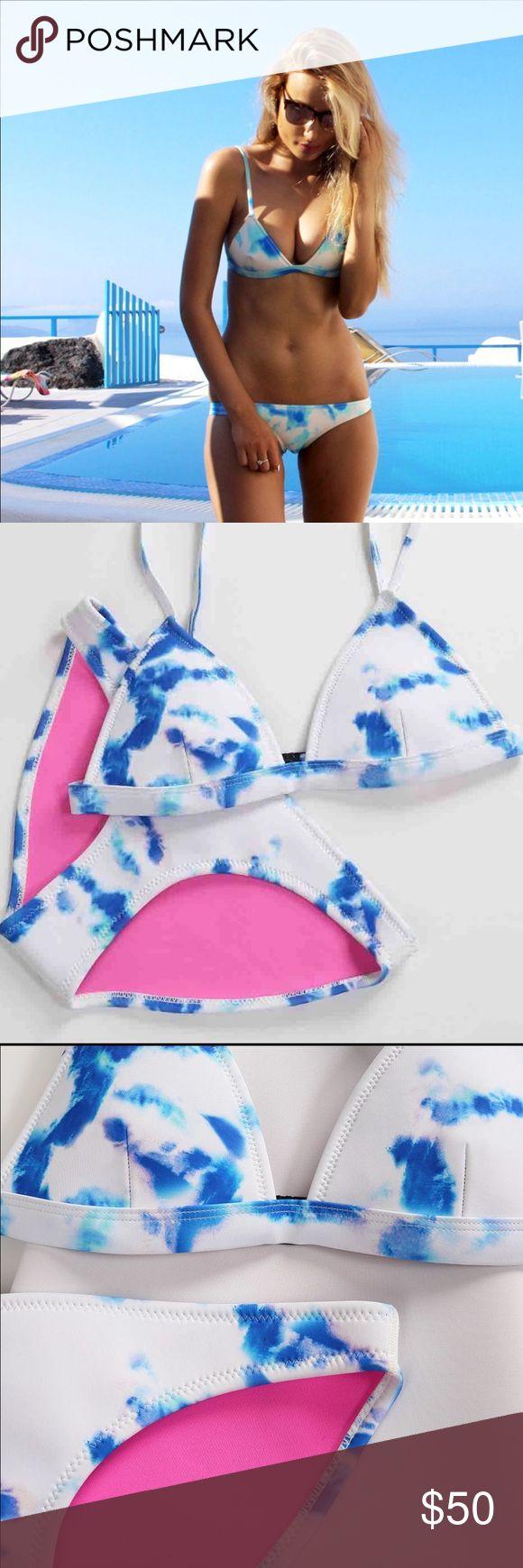 Tye dye neoprene triangl bikini Brand new. Dupe with triangl tags. Not authentic. Great quality triangl swimwear Swim Bikinis