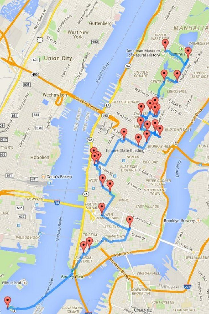 one man calculated the ultimate nyc walking tour new york