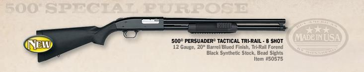 Mossberg 500 Persuader - add Express Ghost-Ring sights and put it on the nightstand