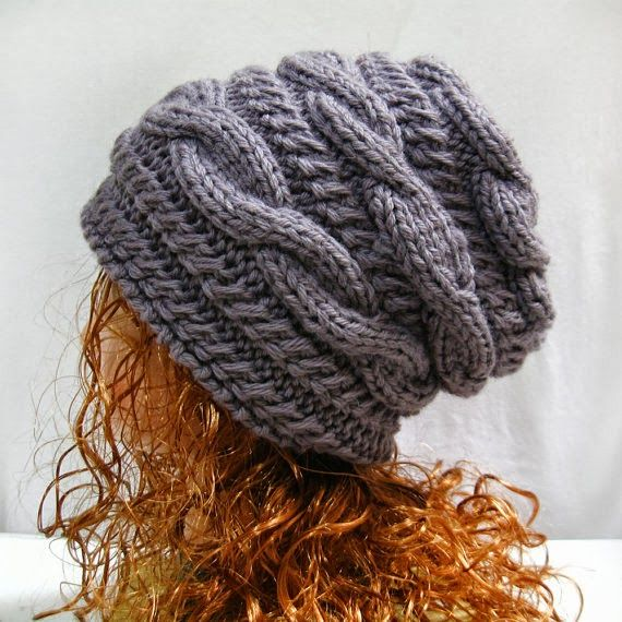 Knitting Pattern Hat Slouchy, PDF Knit Hat Pattern