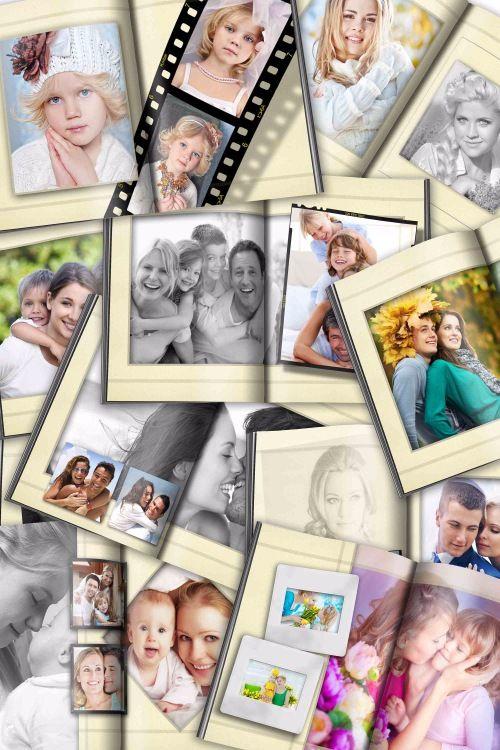 Универсальная фотокнига - набор шаблонов для Фотошопа