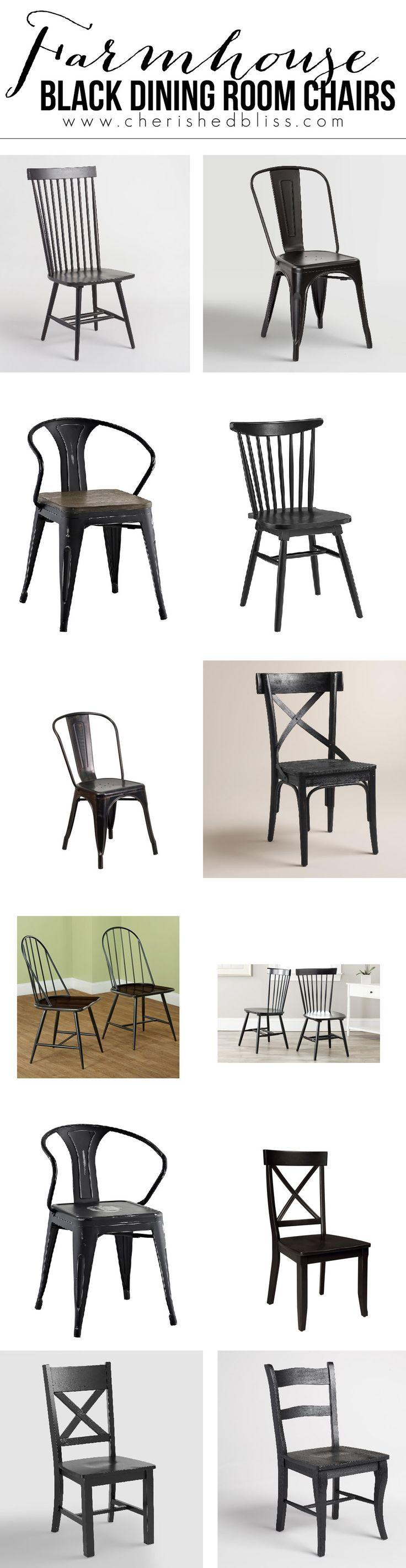Farmhouse Black Dining Room Chairs
