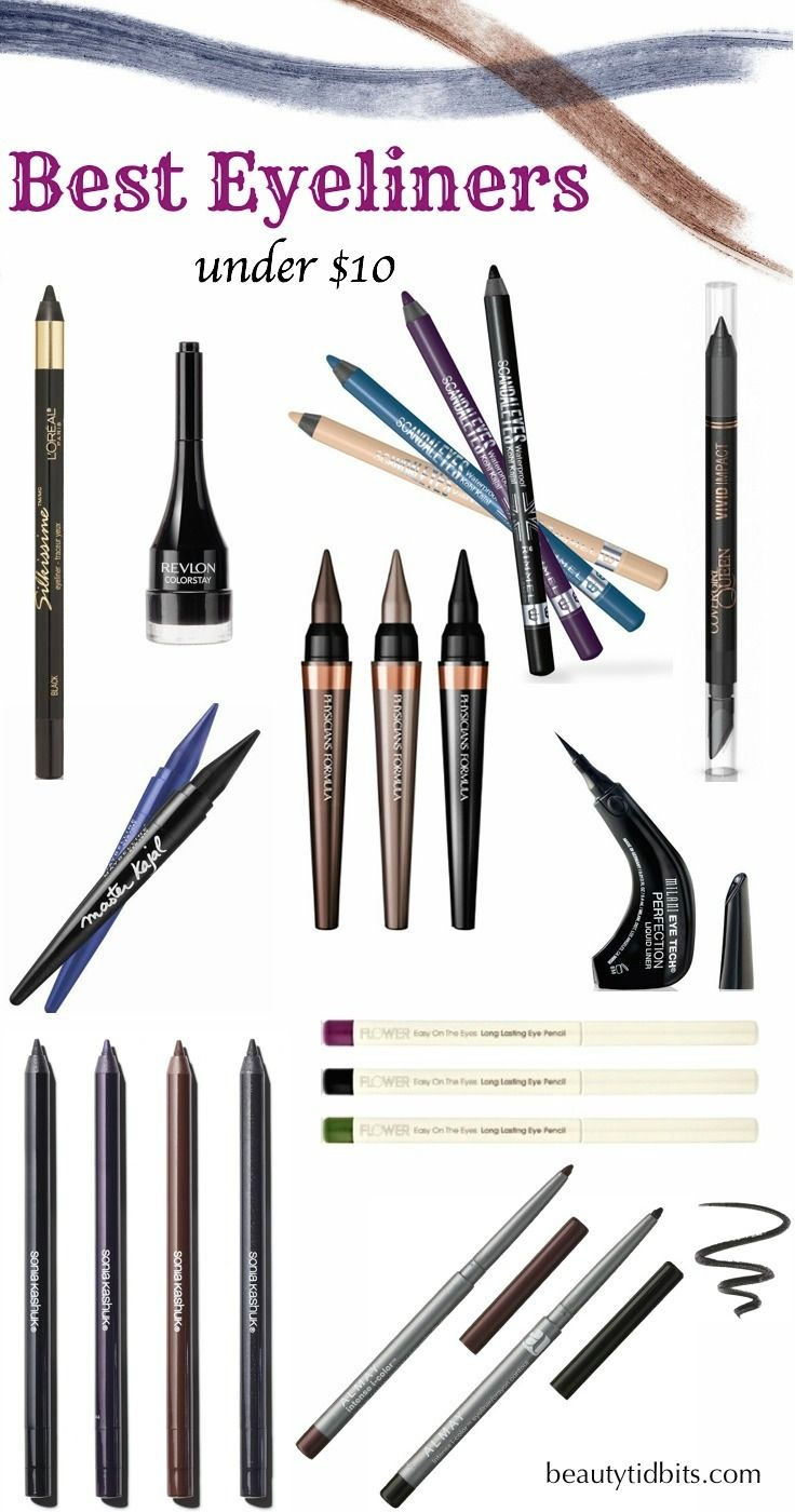 Best drugstore eyeliners under $10 via @beautytidbits
