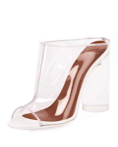 5a21a55f83ace X3XN1 Givenchy Clear PVC Mule Sandal