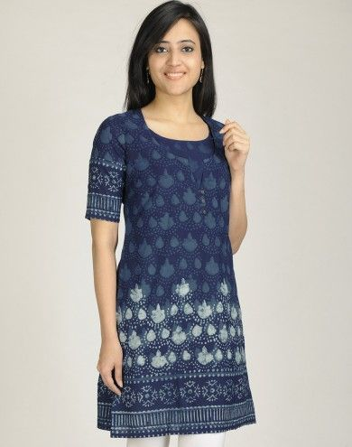 Blue Fabindia vegetable dye kurta.