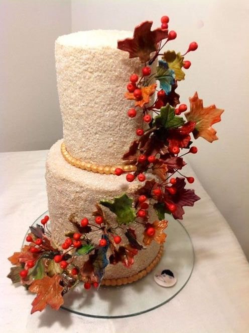 100 best images about autum themed cakes on pinterest for Autumn cake decoration