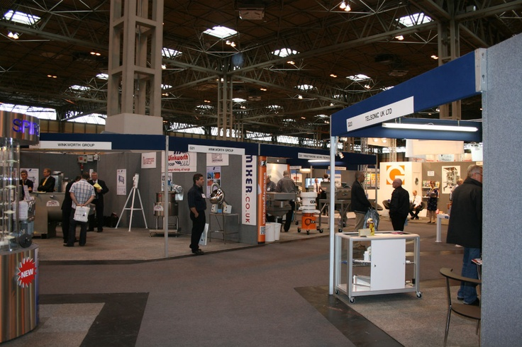 Some of the many stands at PPMA 2012