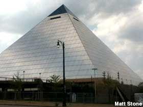 americas largest pyramid, memphis tn