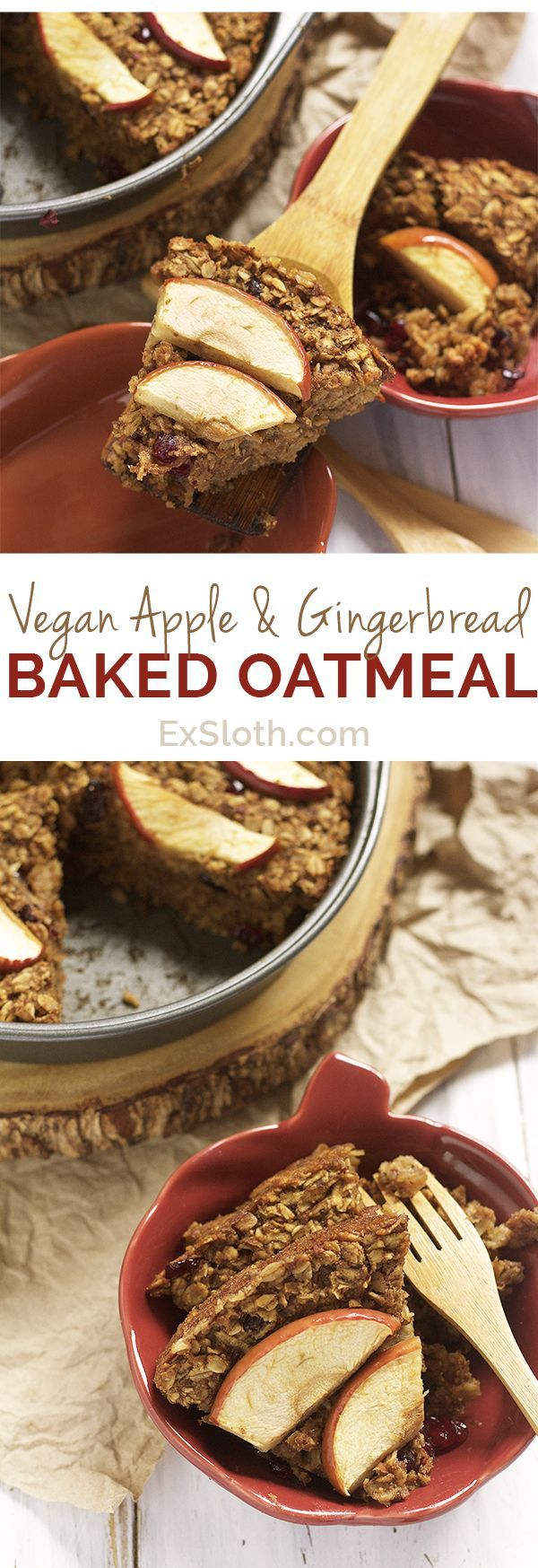 Refined sugar free, dairy free, gluten free, Vegan Apple and Gingerbread Baked…