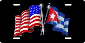 American and Cuba flags | Double click on above image to view full picture