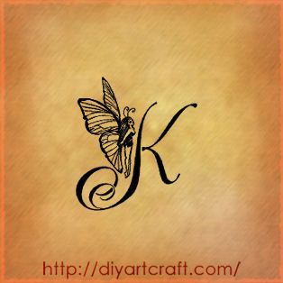 K Letter With Heart Images ... Letters K Tattoo, Memories Tattoo, Letters Tattoo Butterflies, Heart