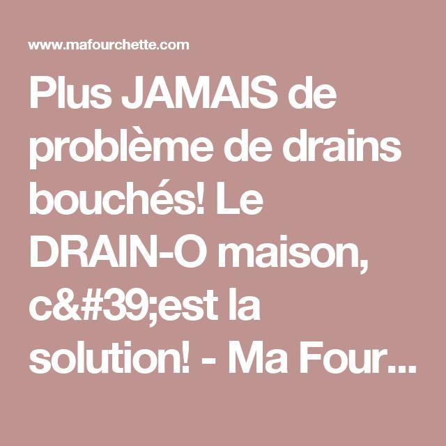 Plus JAMAIS de problème de drains bouchés! Le DRAIN-O maison, c'est la solution! - Ma Fourchette