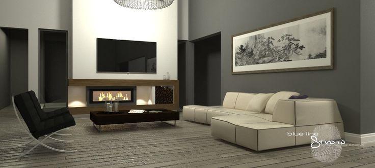Fireplace Design. 3d Visualisation. Sketchup + Vray.