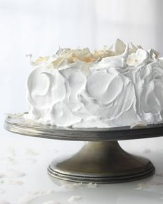 "Meringue Frosting.  Used to be called ""7-Minute Frosting"" because that's how long it took to beat the sugar syrup into the egg whites.  7 minutes is a long time when you're holding a beater, but so worth it!  : )"