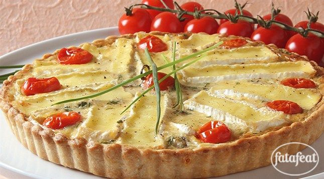 كيش بجبنة الكاممبير  اسم البرنامج: حورية المطبخ  www.fatafeat.com