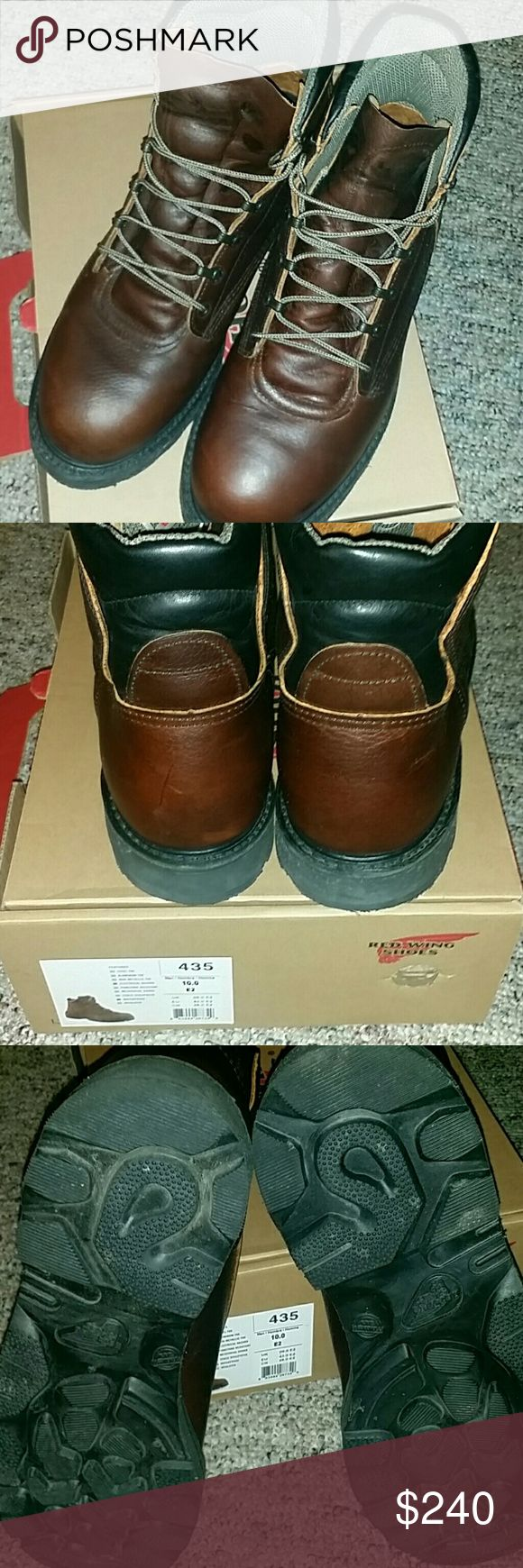 💥NIB RED WING WORK BOOTS NIB RED WING WORK BOOTS  *ELECTRICAL HAZARD *WATERPROOF  STYLE #435 MEN'S*HOMBRE*HOMME  SIZE US 10, UK 9.0, EU 43.0, CM 28.0 RETAIL PRICE  $350.00 WILL ACCEPT REASONABLE OFFERS! Red Wing Shoes Shoes Boots