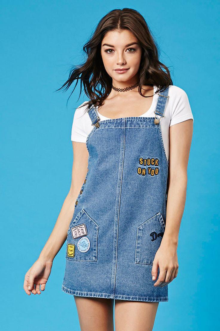 Pixar Dory Denim Overall Dress