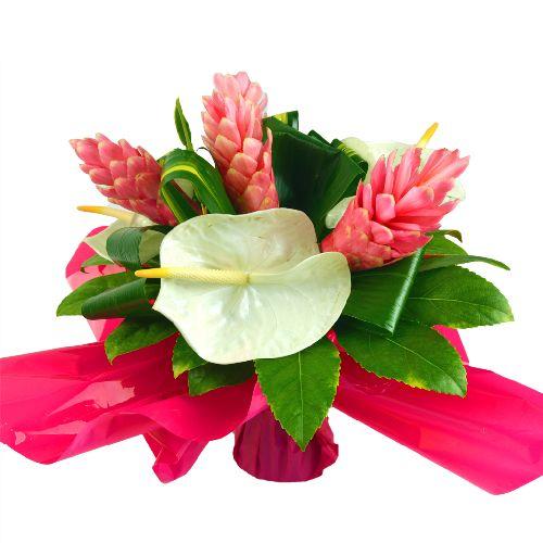 Fête des mères, bouquet de fleurs exotiques Romance