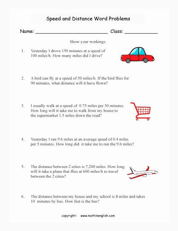 Speed Problem Worksheet Answers Elegant Speed Worksheet in ...