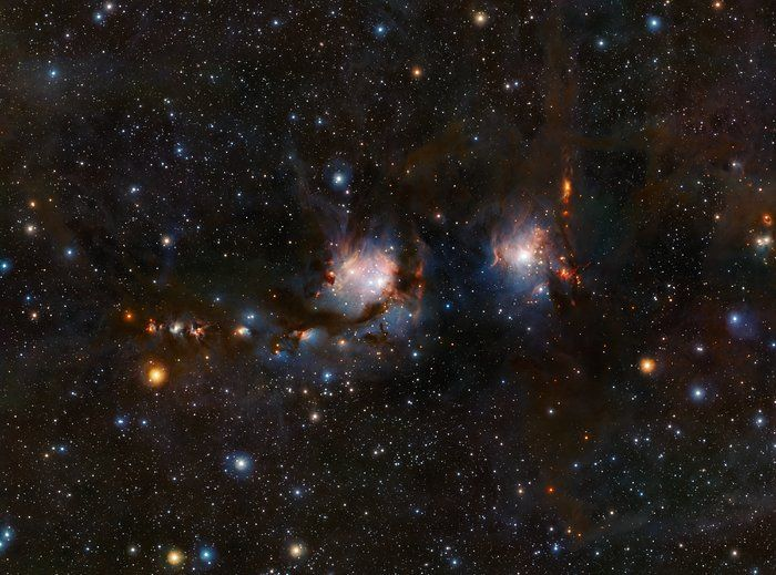VISTA views Messier 78 – This richly detailed view of the star formation region Messier 78, in the constellation of Orion (The Hunter), was taken with the VISTA infrared survey telescope at ESO's Paranal Observatory in Chile. More information: https://www.eso.org/public/images/eso1635a/ Credit: ESO