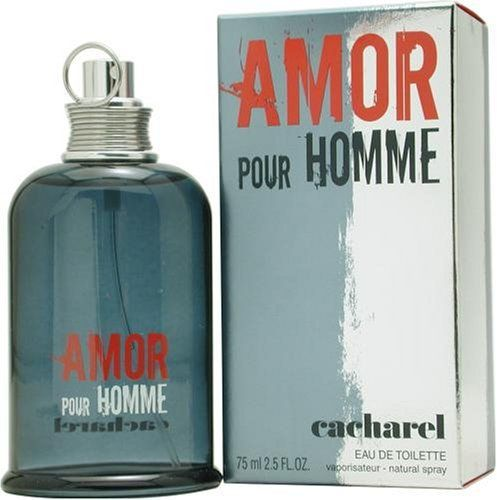 Amor Pour Homme By Cacharel For Men. Eau De Toilette Spray 2.5-Ounces by Cacharel. $44.93. Packaging for this product may vary from that shown in the image above. This item is not for sale in Catalina Island. Launched by the design house of Cacharel.When applying any fragrance please consider that there are several factors which can affect the natural smell of your skin and, in turn, the way a scent smells on you.  For instance, your mood, stress level, age, body chemis...
